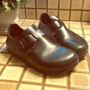 Birkenstock Black Leather Shoes 37